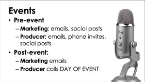Q4i Events marketing sales responsibilities