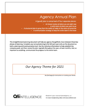 Q4i Agency Annual Planning Guide 2021 Image