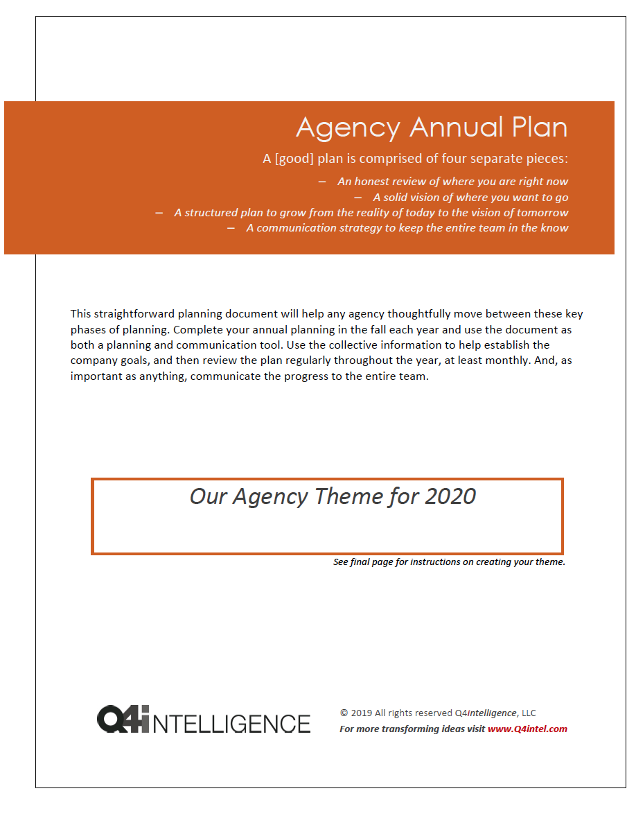 Annual Agency Plan 2020 Image